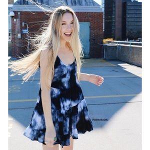 Brandy Melville Blue tie dye jada dress